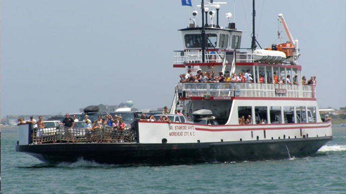 Enjoy a fun day trip across Hatteras Inlet to Ocracoke Island aboard one of our free ferries.